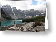 Moraine Lake Lookout - Lake Louise, Alberta Greeting Card