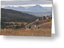Over Looking Grand Tetons Greeting Card