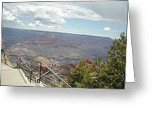 Over Looking The Canyon Greeting Card