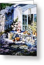 Over Sleepy Garden Walls Greeting Card