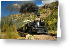 Over The Animas River Greeting Card