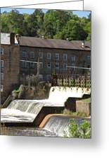 Over The Dam Greeting Card