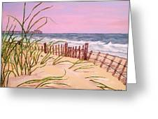 Over The Dunes To The Garden City Pier  Greeting Card