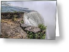 Over The Edge Niagara Falls Greeting Card