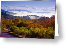 Over The Fog. Trossachs National Park. Scotland Greeting Card by Jenny Rainbow