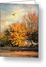 Over The Golden Tree Greeting Card