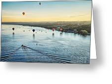 Over The Hudson Greeting Card