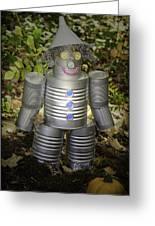 Over The Rainbow Garden Tin Man Greeting Card