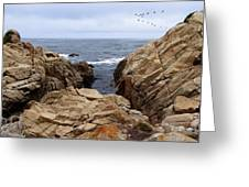 Overcast Day At Pebble Beach Greeting Card