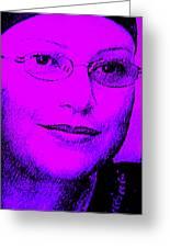 Overcoming Breast Cancer Greeting Card by Sandra Pena de Ortiz