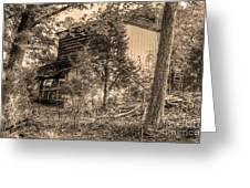 Overgrown Barn Greeting Card