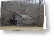 Overgrown Old Horse Barn Greeting Card