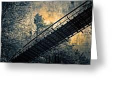 Overhead Bridge Greeting Card