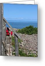 Overlooking Bay Of Fundy Greeting Card