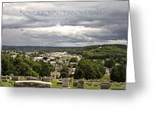 Overlooking Boyertown Greeting Card