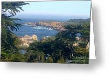Overlooking Carmel Beach Greeting Card