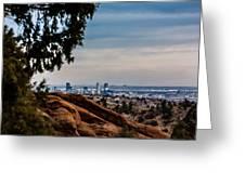 Overlooking Denver Greeting Card