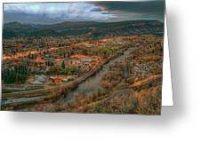 Overlooking Durango Greeting Card
