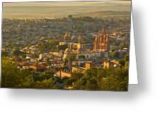 Overlooking San Miguel De Allende Greeting Card