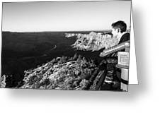 Overlooking The Canyon Greeting Card