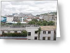 Overlooking The City Greeting Card