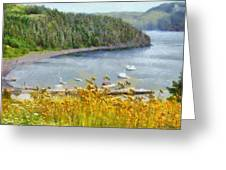 Overlooking The Harbor Greeting Card