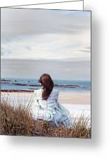 Overlooking The Sea Greeting Card