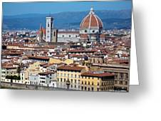 Overview Of Duomo Florence Greeting Card