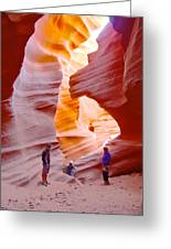 Overwhelmed In Lower Antelope Canyon-az Greeting Card