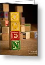 Owen - Alphabet Blocks Greeting Card