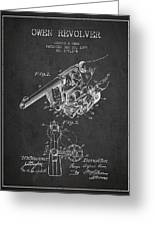 Owen Revolver Patent Drawing From 1899- Dark Greeting Card