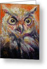 Owl Aceo Greeting Card