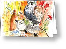 Owl Family In Velez Rubio Greeting Card