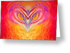 Owl Fire Greeting Card