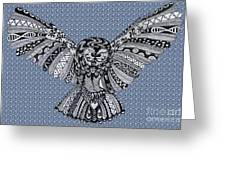 Owl In Flight Bubbles Greeting Card