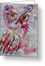 Owl In The Fresh Air Greeting Card