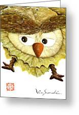 Owl Leaf 3 Greeting Card