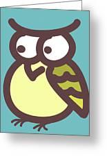 owl Greeting Card by Nursery Art