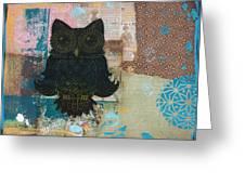 Owl Of Wisdom Greeting Card