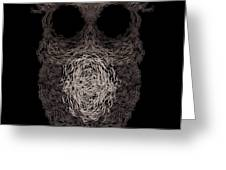 Owl Poster. Vector Illustration Greeting Card