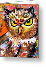 Owl With An Attitude Greeting Card
