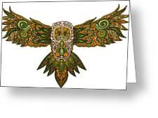 Owl Yellow Greeting Card