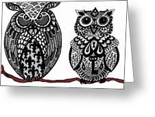 Owls 10 Greeting Card