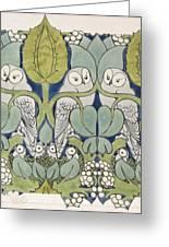 Owls, 1913 Greeting Card