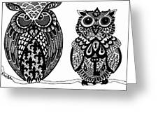 Owls 9 Greeting Card