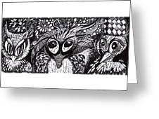 Owls Eyes Greeting Card