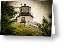 Owls Head Lighthouse Greeting Card