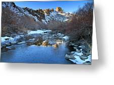 Owyhee River Reflection Desert Light Greeting Card