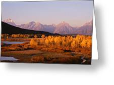 Oxbow Bend Grand Teton National Park Wy Greeting Card