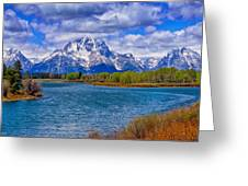 Oxbow Bend In Spring Greeting Card